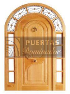 puerta de entrada rustica mediopunto en madera 1