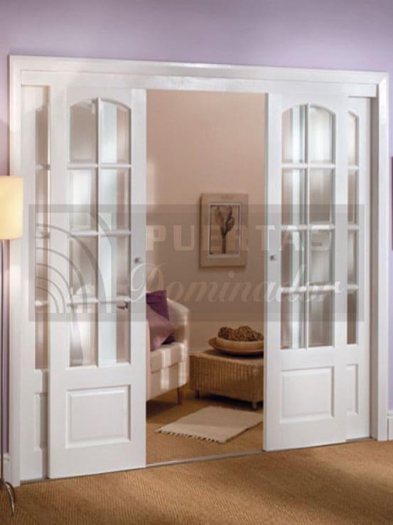 Puerta Corredera Para Salon Madera Maciza Puertas Dominador