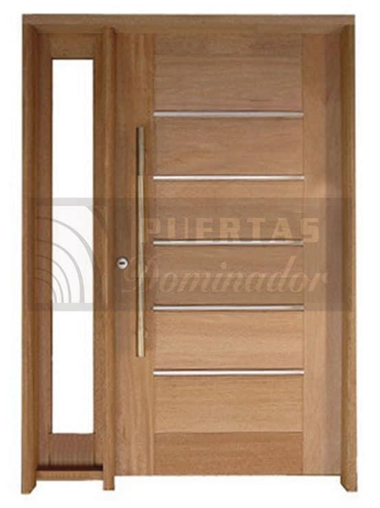 Puerta de entrada moderna madera maciza modelo 11 for Puertas de entrada de madera modernas