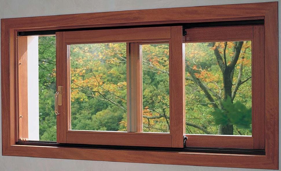 ventana corredera de madera