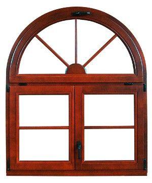 ventana de mediopunto madera