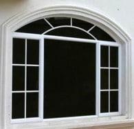 ventana de aluminio con arco